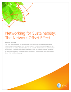 Networking for Sustainability: The Network Offset Effect