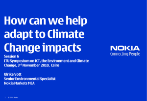 How can we help adapt to Climate Change impacts