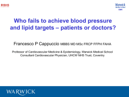 Who fails to achieve blood pressure – patients or doctors?