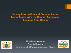 Linking Information and Communication Technologies with the Cancun Agreement: Lessons from Ghana