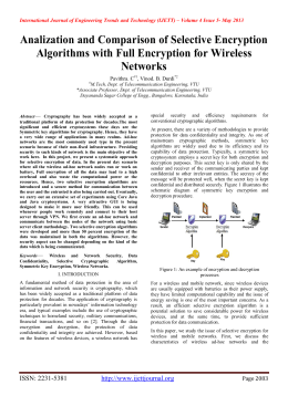 Analization and Comparison of Selective Encryption Networks