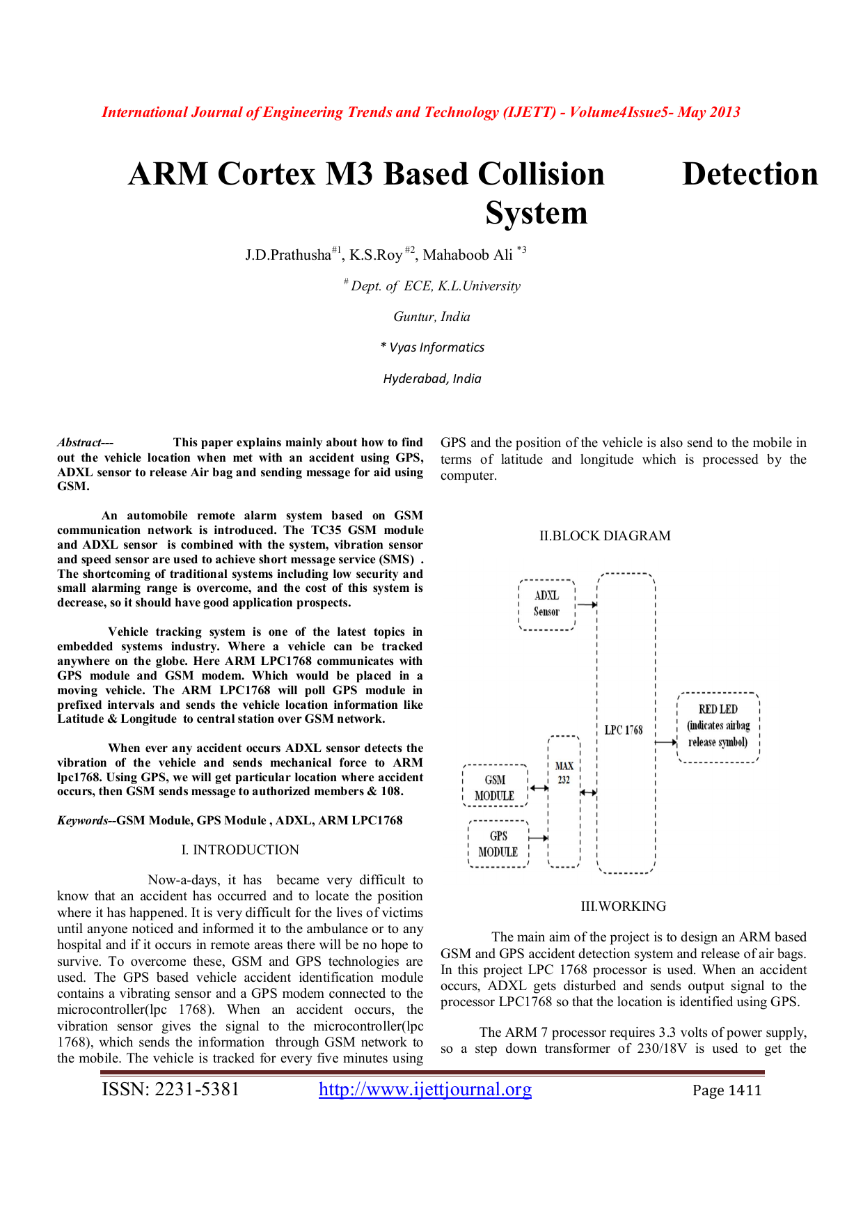 Arm Cortex M3 Based Collision System International Journal Of Solved: How  To How To Find