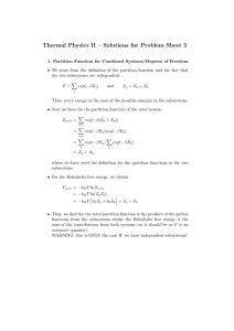 Thermal Physics II – Solutions for Problem Sheet 5