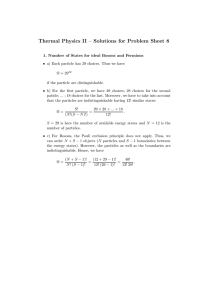 Thermal Physics II – Solutions for Problem Sheet 8
