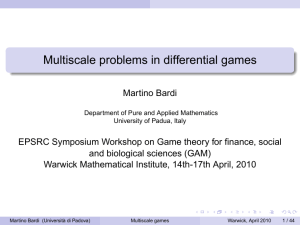 Multiscale problems in differential games
