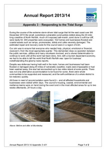 Annual Report 2013/14  Appendix 3 – Responding to the Tidal Surge