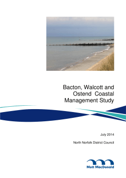 Bacton, Walcott and Ostend  Coastal Management Study July 2014