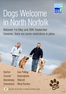 Dogs Welcome in North Norfolk Between 1st May and 30th September