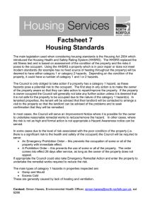 Factsheet 7 Housing Standards