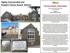 WELLS Highly Commended and People's Choice Award  Winner