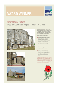 AWARD WINNER Binham Priory, Binham. Entrant - Mr D Frost