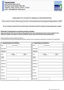 Application for consent to display an advertisement(s)