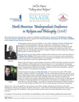 North American  Undergraduate Conference in Religion and Philosophy (2008)