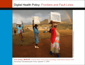 Digital Health Policy: Frontiers and Fault Lines  , MHS/HP,