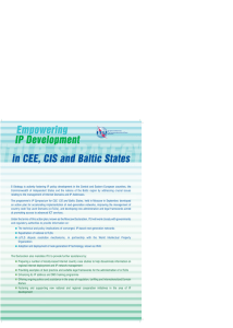 Empowering IP Development in CEE, CIS and Baltic States