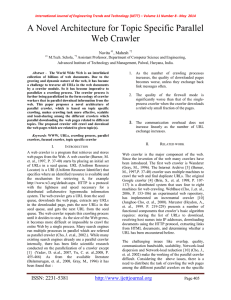 A Novel Architecture for Topic Specific Parallel Web Crawler Navita , Mahesh