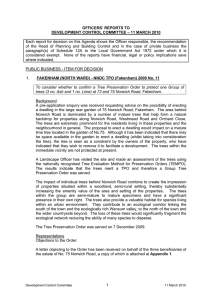 OFFICERS' REPORTS TO DEVELOPMENT CONTROL COMMITTEE – 11 MARCH 2010