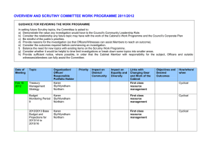 OVERVIEW AND SCRUTINY COMMITTEE WORK PROGRAMME 2011/2012