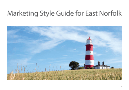 Marketing Style Guide for East Norfolk 1