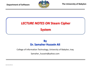 LECTURE NOTES ON  By Dr. Samaher Hussein Ali