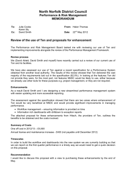 North Norfolk District Council Performance & Risk Management MEMORANDUM