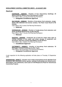 DEVELOPMENT CONTROL COMMITTEE (WEST) – 20 AUGUST 2009  Result List