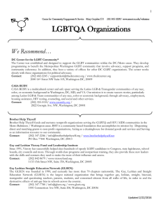 LGBTQA Organizations  We Recommend… 1