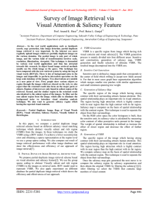 Survey of Image Retrieval via Visual Attention & Saliency Feature
