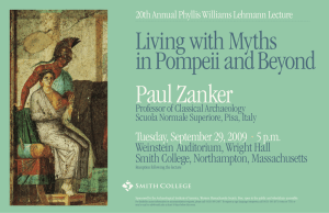 Paul Zanker Living with Myths in Pompeii and Beyond Tuesday, September 29, 2009