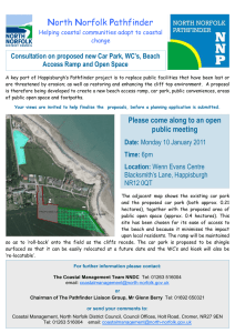 North Norfolk Pathfinder Consultation on proposed new Car Park, WC's, Beach