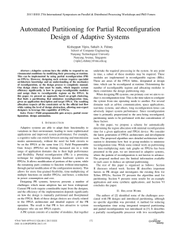 Automated Partitioning for Partial Reconfiguration Design of Adaptive Systems