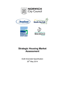 Strategic Housing Market Assessment  Draft Amended Specification