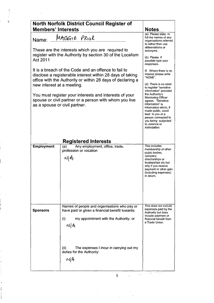 fF:\?~   North Norfolk District Council Register of