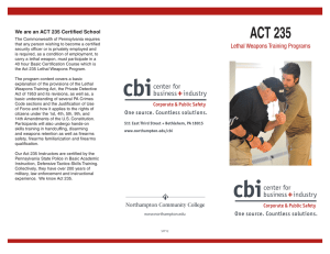 ACT 235  Lethal Weapons Training Programs