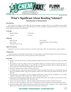 What's Significant About Reading Volumes? Introduction to Measurement Introduction