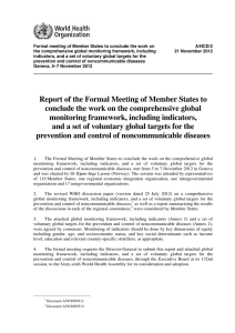 Formal meeting of Member States to conclude the work on A/NCD/2
