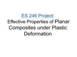 Planar Composites under Plastic Deformation ES 246 Project: