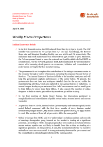 Weekly Macro Perspectives  April 9, 2016
