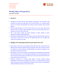 Weekly Macro Perspectives  November 23, 2013 Agriculture