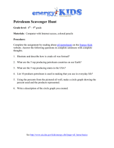 Petroleum Scavenger Hunt