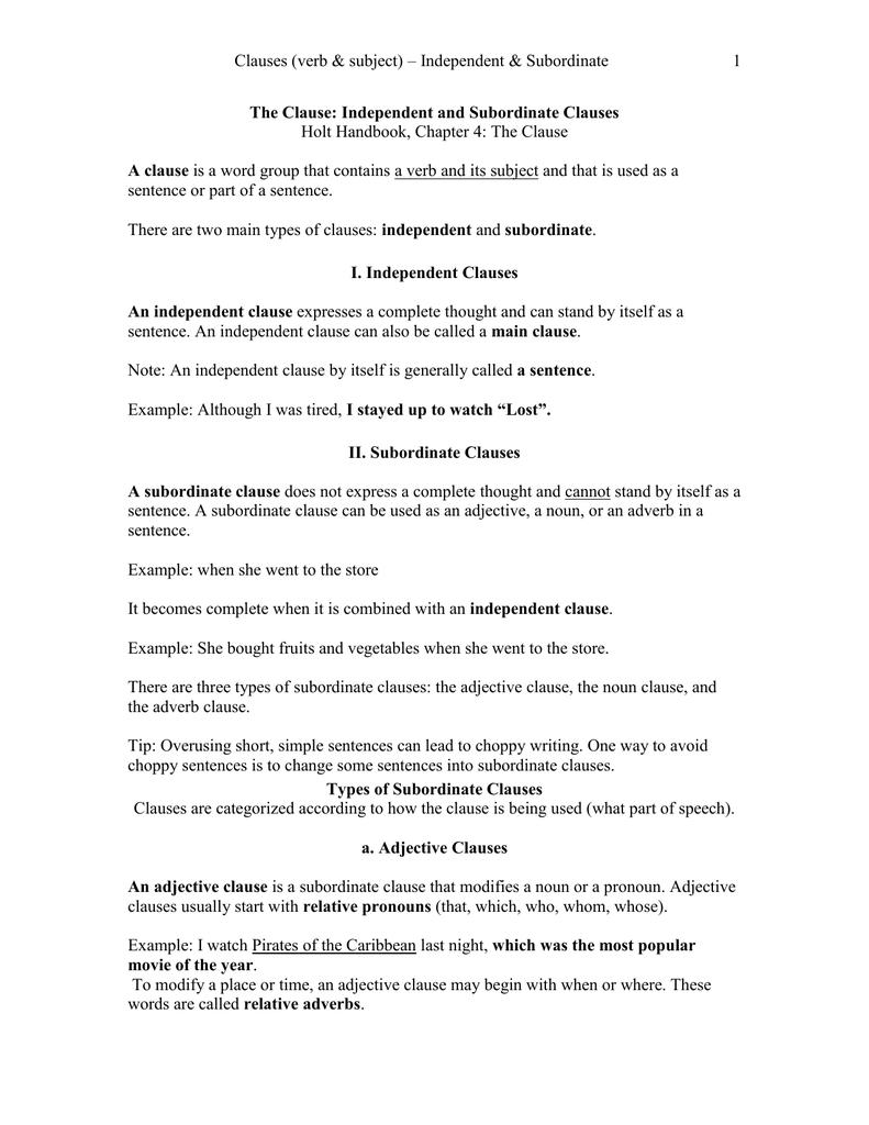 clause modifying a noun or pronoun