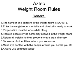Aztec Weight Room Rules General