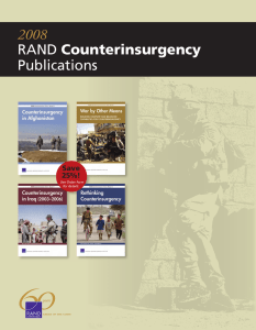 2008 Counterinsurgency Publications