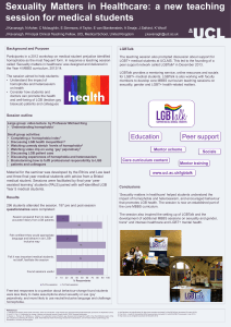 Sexuality  Matters  in  Healthcare:  a ... session for medical students