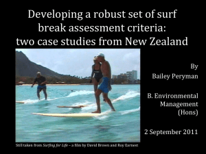 Developing a robust set of surf break assessment criteria: By