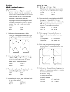 Kinetics NChO Practice Problems