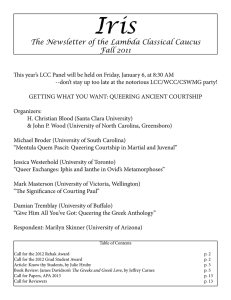 Iris The Newsletter of the Lambda Classical Caucus Fall 2011