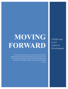 MOVING FORWARD  USAID and