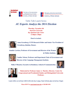 AU Experts Analyze the 2014 Election