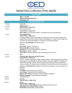 Spring Policy Conference Event Agenda Event Details Thursday, May 09, 2013